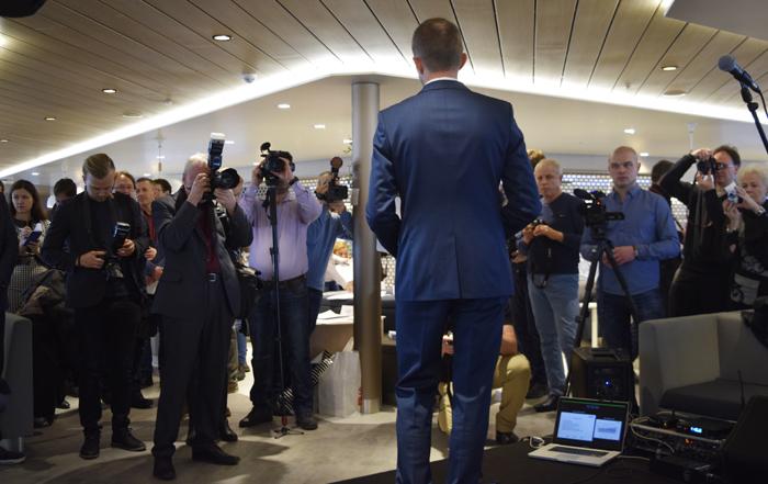 230 miljoonan euron investointi on suuri summa mille tahansa laivayhtiölle. M/s Megastarilla 27.1.2017 järjestetty mediatilaisuus kiinnosti laajasti kansainvälistä lehdistöä.